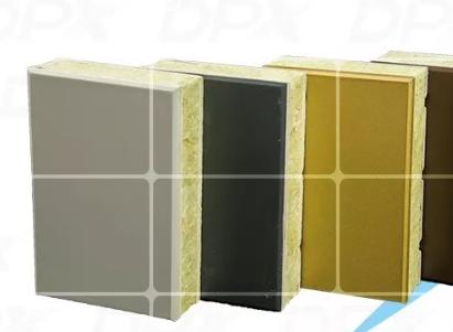 用岩棉复合板合成的保温装饰一体板